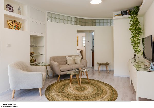 עיצוב הבית עם הקירות המדורגים – רמת גן